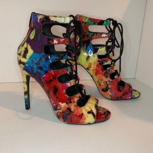 New Candies High Heels Multi-color Lace Up